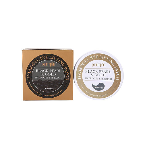 Petitfee. Black Pearl & Gold Hydrogel Eye Patch. Гидрогелевые патчи с жемчугом