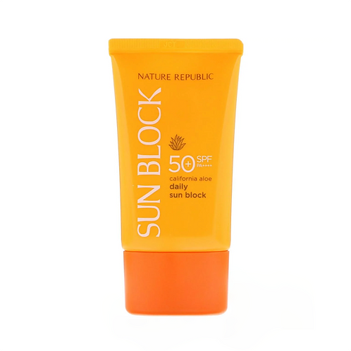 ⁣⁣⁣Nature Republic. California Aloe Daily Sun Block SPF50+. Солнцезащитный крем
