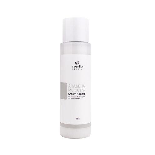 Eyenlip. Multiсare Cream-Toner AHA & BHA. Крем-тонер с AHA и BHA кислотами