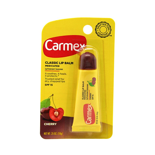 Carmex. Daily care lip balm, fresh cherry tube. Вишневый бальзам для губ в тубе