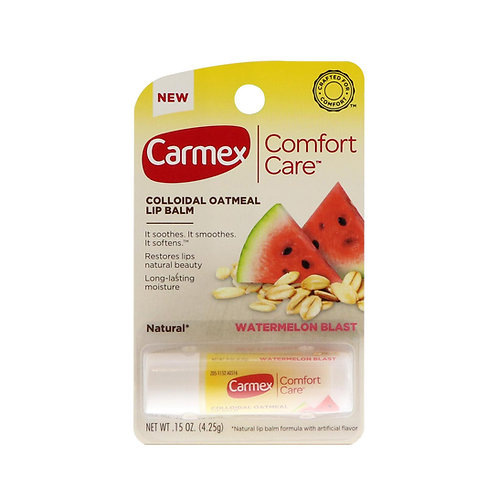 Carmex. Comfort care lip balm, watermelon stick. Арбузный бальзам для губ