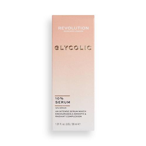 Revolution Skincare. Glycolic Acid 10% Serum.Сыворотка-пилинг с гликолевой к-той