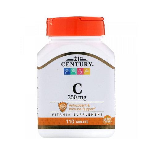21st Century. Vitamin C. Витамин C, 250 мг