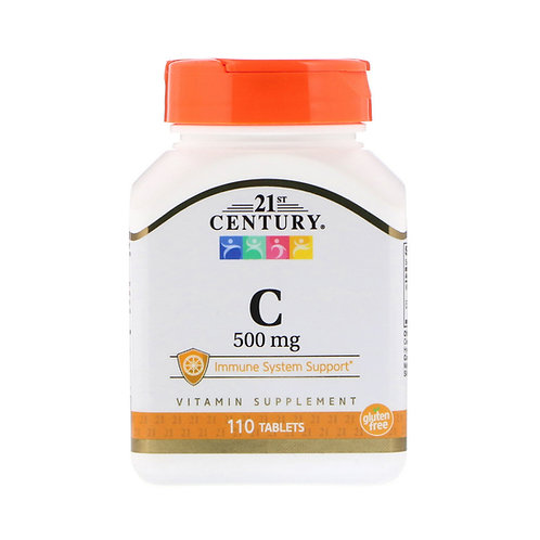 21st Century. Vitamin C. Витамин C, 500 мг