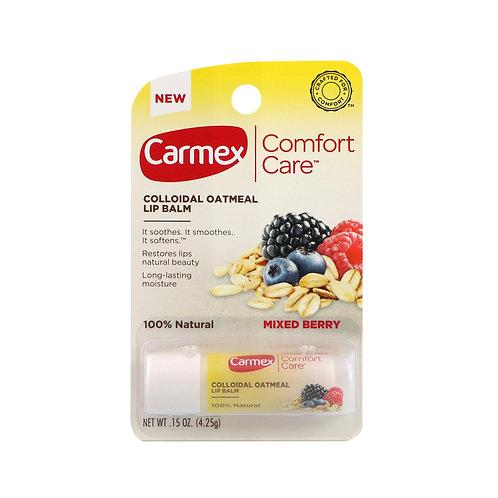 Carmex. Comfort care lip balm, berries stick. Ягодный бальзам для губ в стике