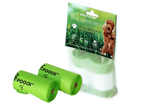 30 Compostable Dog Waste Bags
