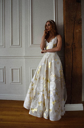 Goldie+wedding+gown+gold+and+white+Dearh