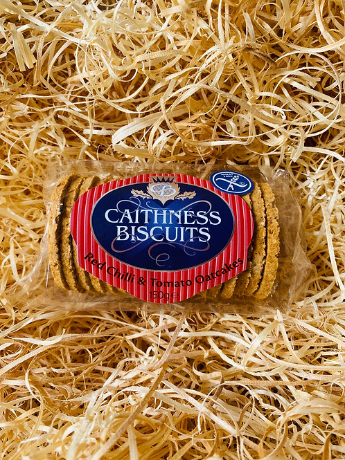 Caithness Biscuits - Red Chilli & Tomato Oatcakes