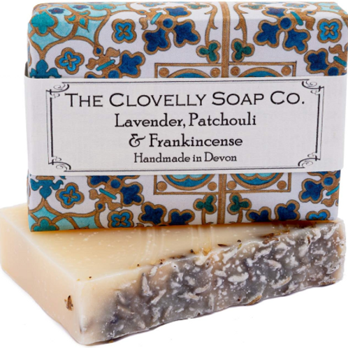 The Clovelly Soap Co - Lavender, Patchouli & Frankincense Soap