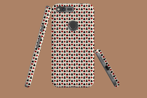 Playing Card Suits on Beige Google Pixel Case