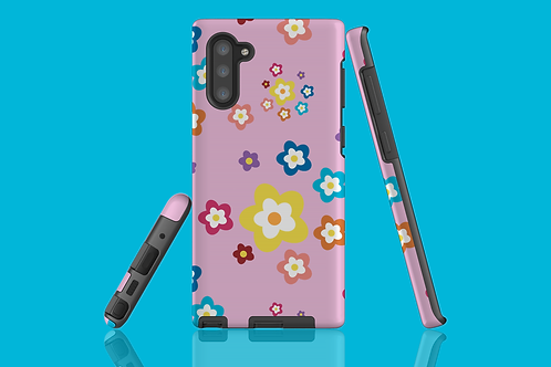 Colourful Flowers on Pink Samsung Galaxy Case