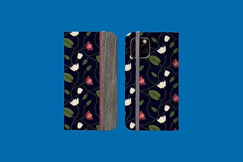 Driftwood Flower Vines iPhone Folio Wallet Case