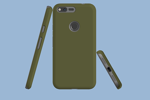 Moss Green Solid Colour Google Pixel Case