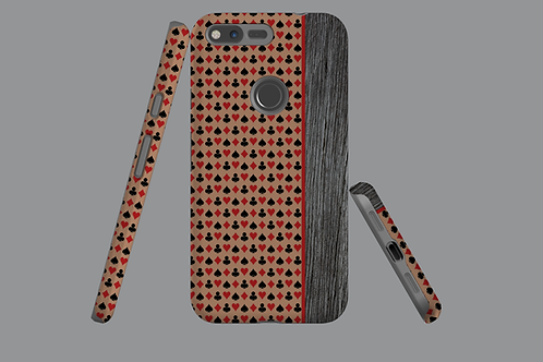 Driftwood Playing Card Suits Brown Google Pixel Case
