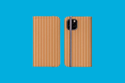 Tangerine Stripes iPhone Folio Wallet Case