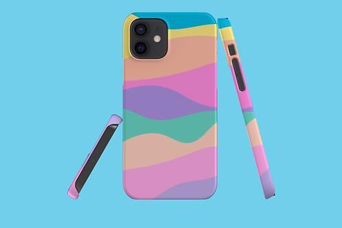 Pastel Rainbow Mountain iPhone Case