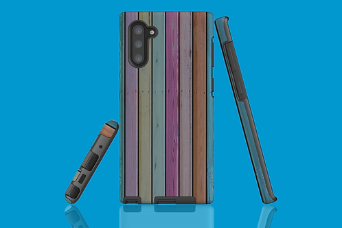 Colourful Wood Shed Wall Samsung Galaxy Case