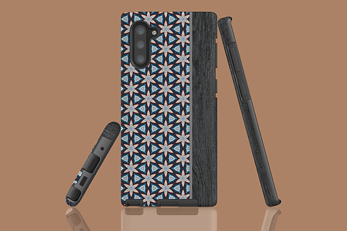 Floral Geometric Wood Grain Samsung Galaxy Case