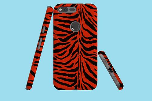 Red Zebra Stripes Google Pixel Case