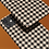 Thumbnail: Black and Nude Houndstooth iPhone Case