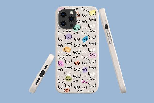 Boobs iPhone Bio-Case   Environmentally Friendly iPhone Case - iPhone 12 range,
