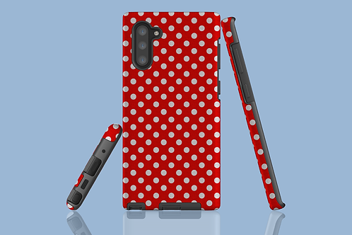 Red Polka Dots Picnic Blanket Samsung Galaxy Case