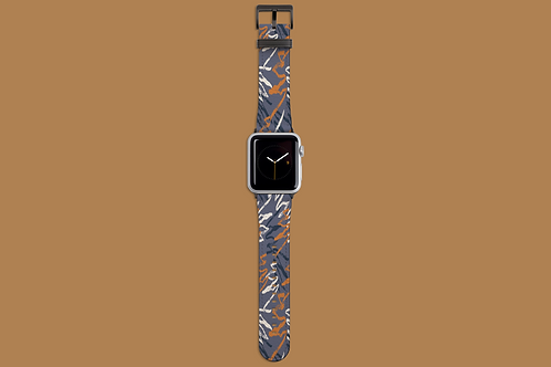 Grey Graffiti Apple Watch Strap