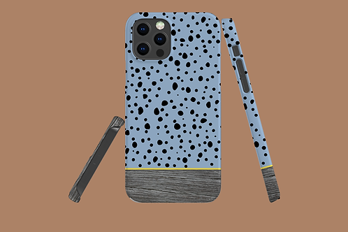 Driftwood Spotty Blue iPhone Case
