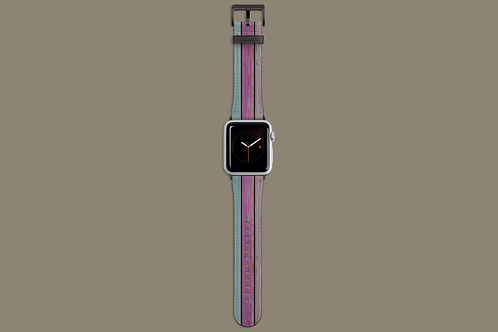 Colourful Wood Shed Wall Apple Watch Strap