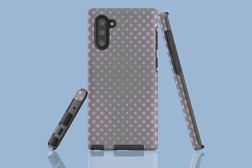 Pink and Grey Floral Geometric Samsung Galaxy Case