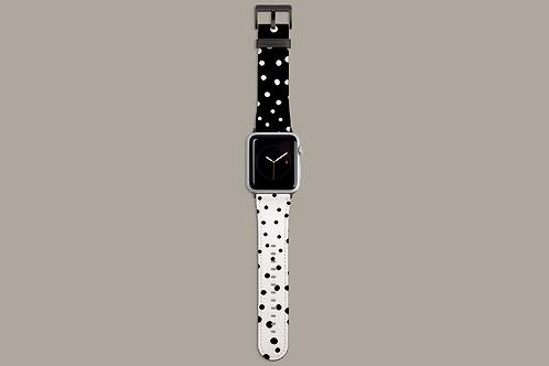Monochrome Dots Apple Watch Strap