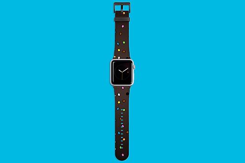 Allsorts on Dark Gradient Apple Watch Strap