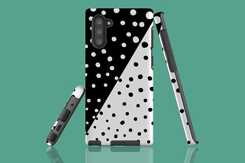 Diagonal Monochrome Dots Samsung Galaxy Case