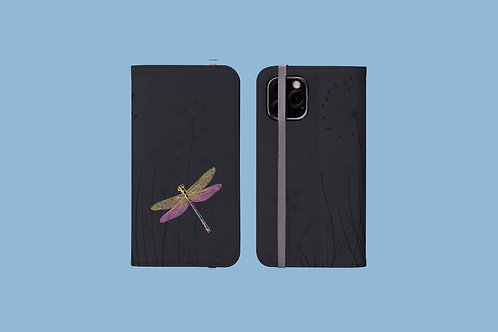 Dragonfly iPhone Folio Wallet Case