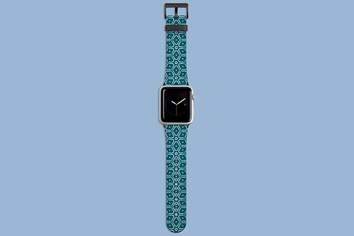 Flower diamond Teal Apple Watch Strap