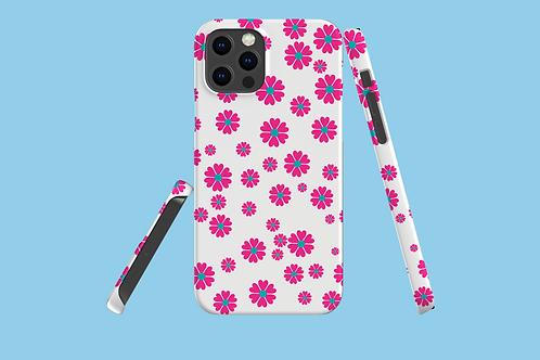 Flower Power on White iPhone Case
