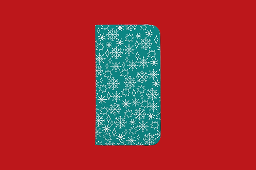 Christmas Snowflakes iPhone Folio Wallet Case