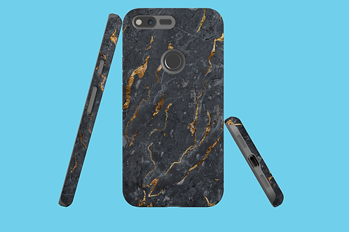 Black and Gold Marble Google Pixel Case
