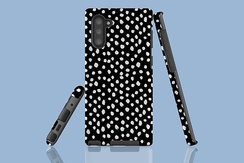 White Dawbs on Black Samsung Galaxy Case