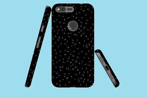 Rainbow Sprinkles on Black Google Pixel Case