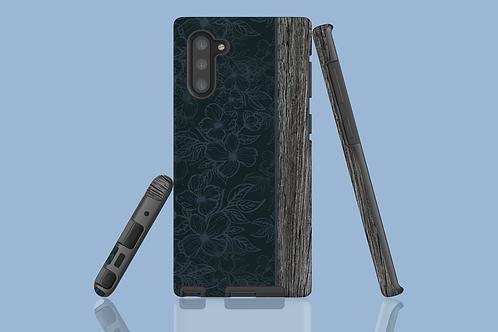 Driftwood Dark Flower Outlines Samsung Galaxy Case