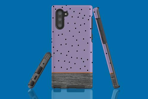 Driftwood Purple Squares Samsung Galaxy Case