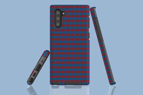 Red and Blue Plaid Samsung Galaxy Case