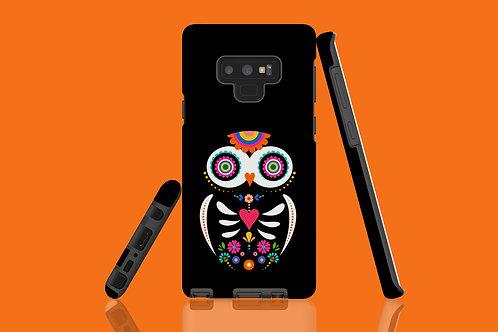 Black Skeleton Owl Samsung Galaxy Case