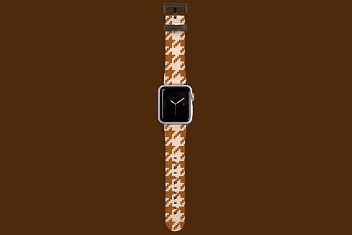 Beige Houndstooth Apple Watch Strap