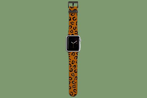 Leopard Print Tan Apple Watch Strap