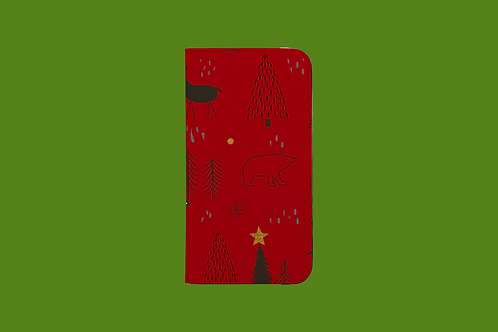 Christmas Critters iPhone Folio Wallet Case