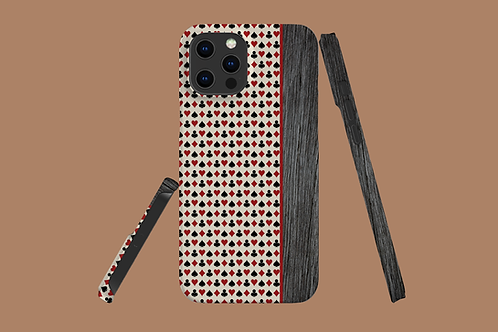 Driftwood Playing Card Suits iPhone Case