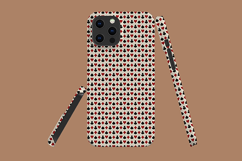 Playing Card Suits on Beige iPhone Case