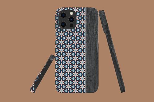 Floral Geometric Wood Grain iPhone Case